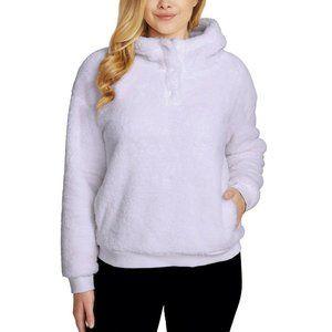 Lukka Lux Ladie' Cozy Sherpa Fleece Hoodie Purple